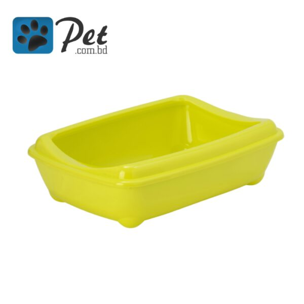 Moderna Semi Open Cat litter Box - Lemon Green