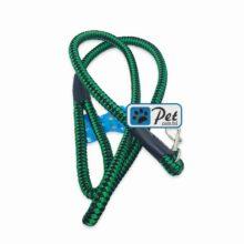 Bright Nylon Cord Dog Leash 60inch (Green-Black)
