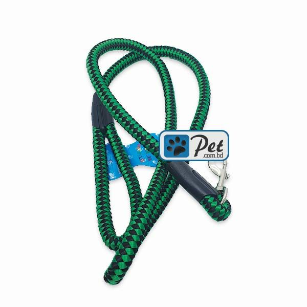 Bright Nylon Cord Dog Leash 60inch (Green-Black)