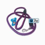 Bright Nylon Cord Dog Leash 60inch (Magenta-Black)