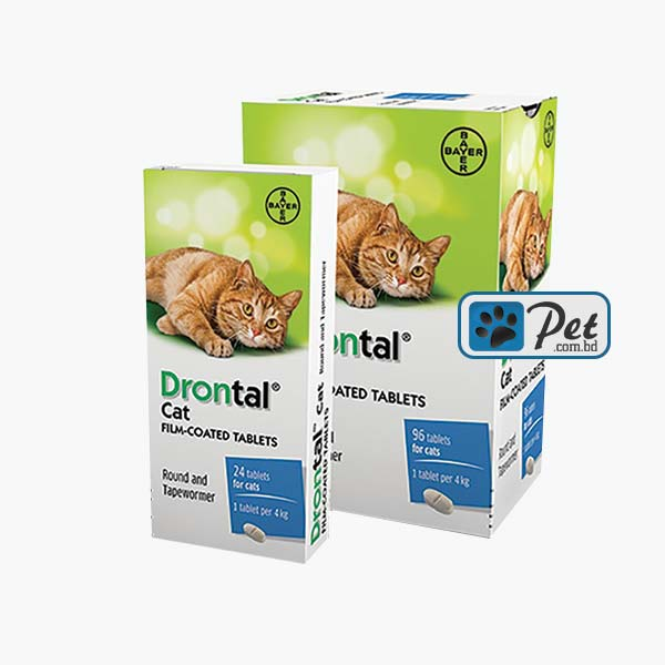 Drontal Cat - Round & Tapewormer (1 Tablet)