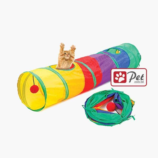 Rainbow Cat Tunnel Toy