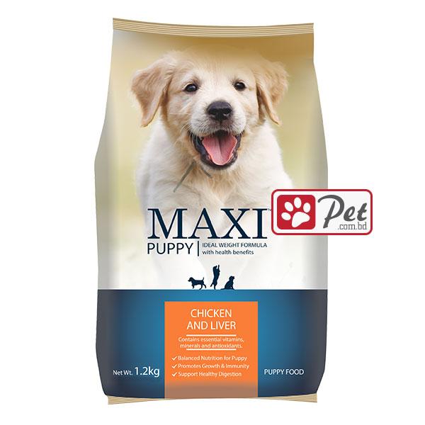 Maxi Puppy Food - Chicken & Liver (1.2kg)   PET.COM.BD
