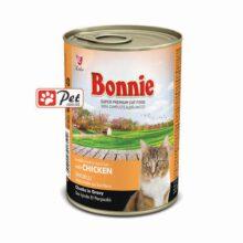 Bonnie Cat Can - Chicken Chunks in Gravy (415g)