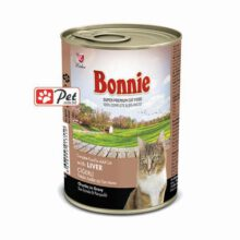 Bonnie Cat Can - Liver Chunks in Gravy (415g)