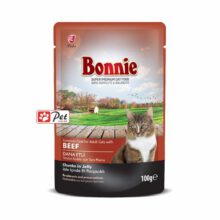 Bonnie Cat Pouch - Beef Chunks in Jelly (100g)