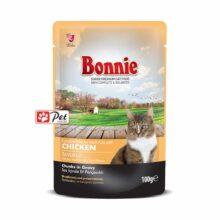 Bonnie Cat Pouch - Chicken Chunks in Gravy (100g)