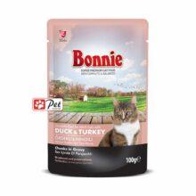 Bonnie Cat Pouch - Duck & Turkey Chunks in Gravy (100g)