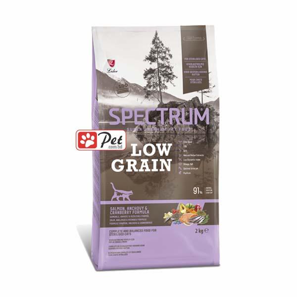 Spectrum Low Grain Cat Food – Salmon, Anchovy & Cranberry(2kg)