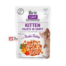 Brit Care Kitten Pouch - Tender Turkey Fillets in Gravy (85g)