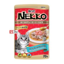 Nekko Cat Pouch - Tuna Topping Kanikama in Gravy (70g)